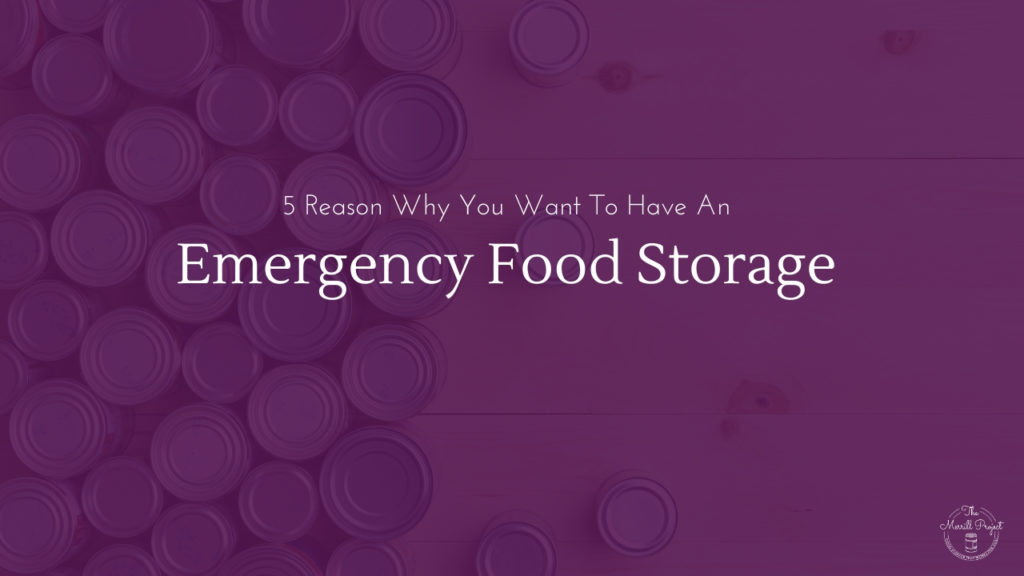 Learn the 5 reasons why you need food storage and how food storage can help you in major emergencies or unexpected life events.