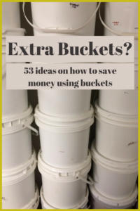 I LOVE 5 gallon buckets, well I THOUGHT I did until I found how how expensive they were. Then I found out how I could get FREE buckets