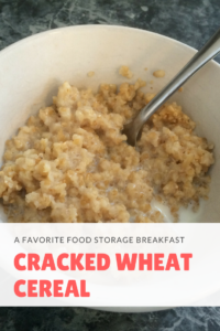 Everyday for breakfast we would have oatmeal cereal, with occasional homemade waffles twice a week. BUT once in a while, my mom would make Wheat cereal
