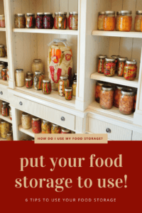 how to use food storage