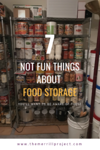 uncomfortable things about food storage