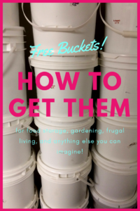 food grade buckets for free