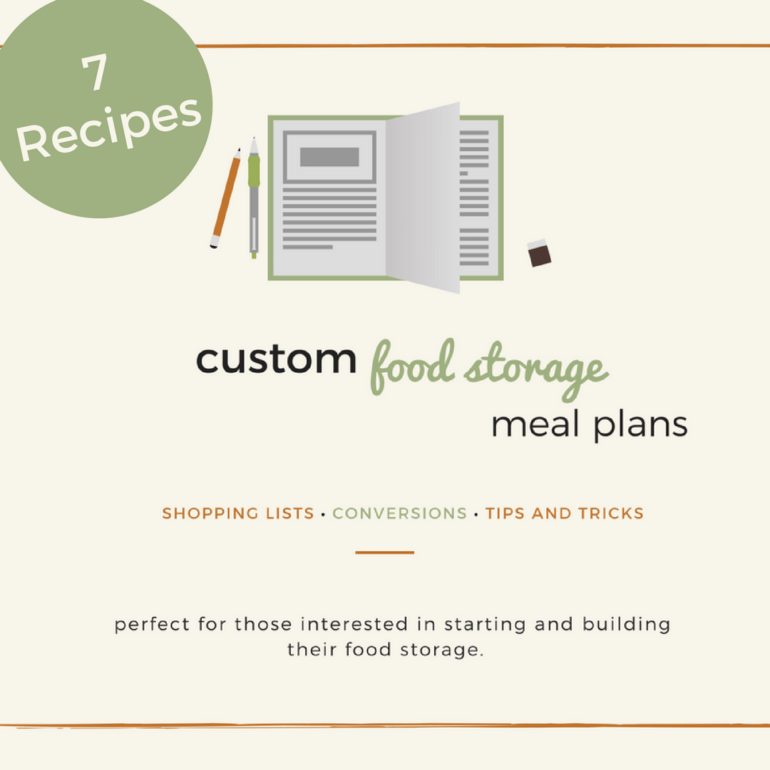 7 recipe custom food storage meal plan the merrill project forumfinder Image collections