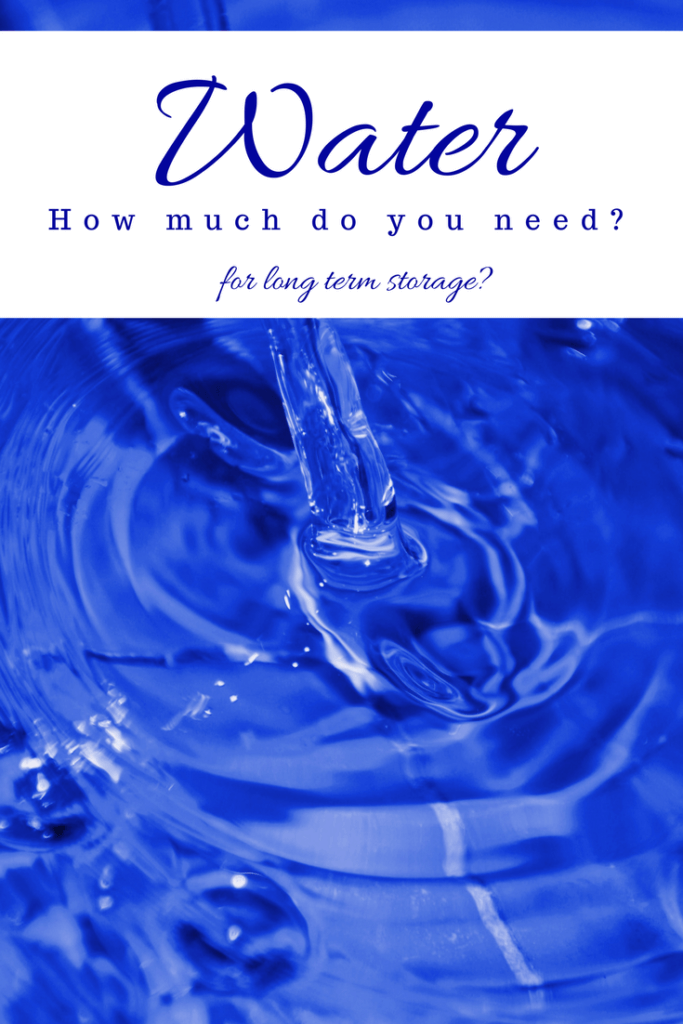 how much water storage do I need