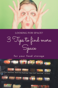 I don't have space for my food storage. I live in a small apartment and there is no space. Here are 3 steps to help you find space for your food storage
