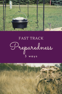 Emergency preparedness can be very overwhelming to start with.  Here are 3 ideas to jump start emergency preparedness for your family
