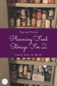 Are you having a hard time planning a food storage for 2?  There are loads of food storage recipes out there, but hardly any of them work for a family of 2.
