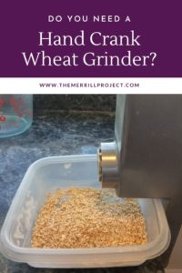 "A lot of people asking me ""What type of wheat grinder to buy for food storage?"" I have two favorite wheat grinders, but my favorite hand wheat grinder"