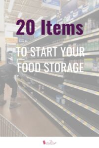 If you were to start food storage over, with a tight budget, what would be the first 20 items you would store? I could add more to