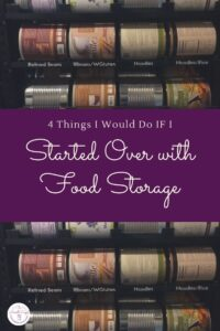 "A wise person once asked me ""If you could start over with food storage, what would you do?"" Keep reading to find out what I have learned over"