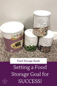 Making sure you have a food storage goal will help you progress with your food storage so much quicker!  How in the world do you set a food st