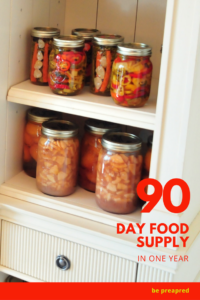 Learn how I planned and built our food storage so quickly. Check out the quick and condensed version on how to stockpile 3 months of food.