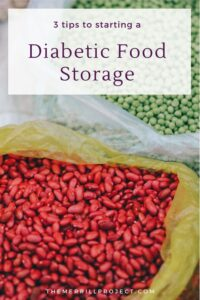 If you are reading this, then you or someone else you know has diabetes, and you're looking to build food storage or stockpile.